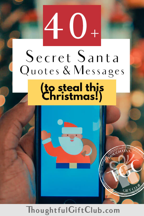 40+ Secret Santa Quotes & Messages to Steal This Christmas