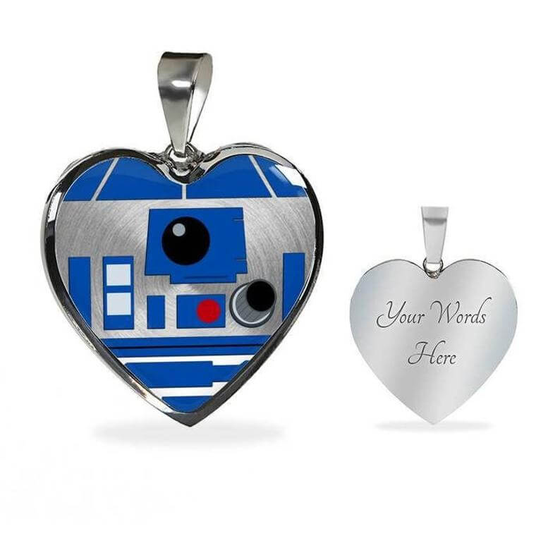 R2-D2 engraved necklace
