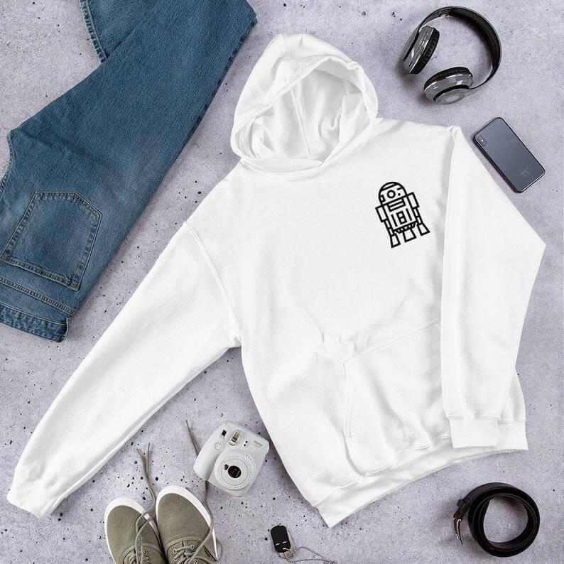 R2-D2 minimalist hoodie