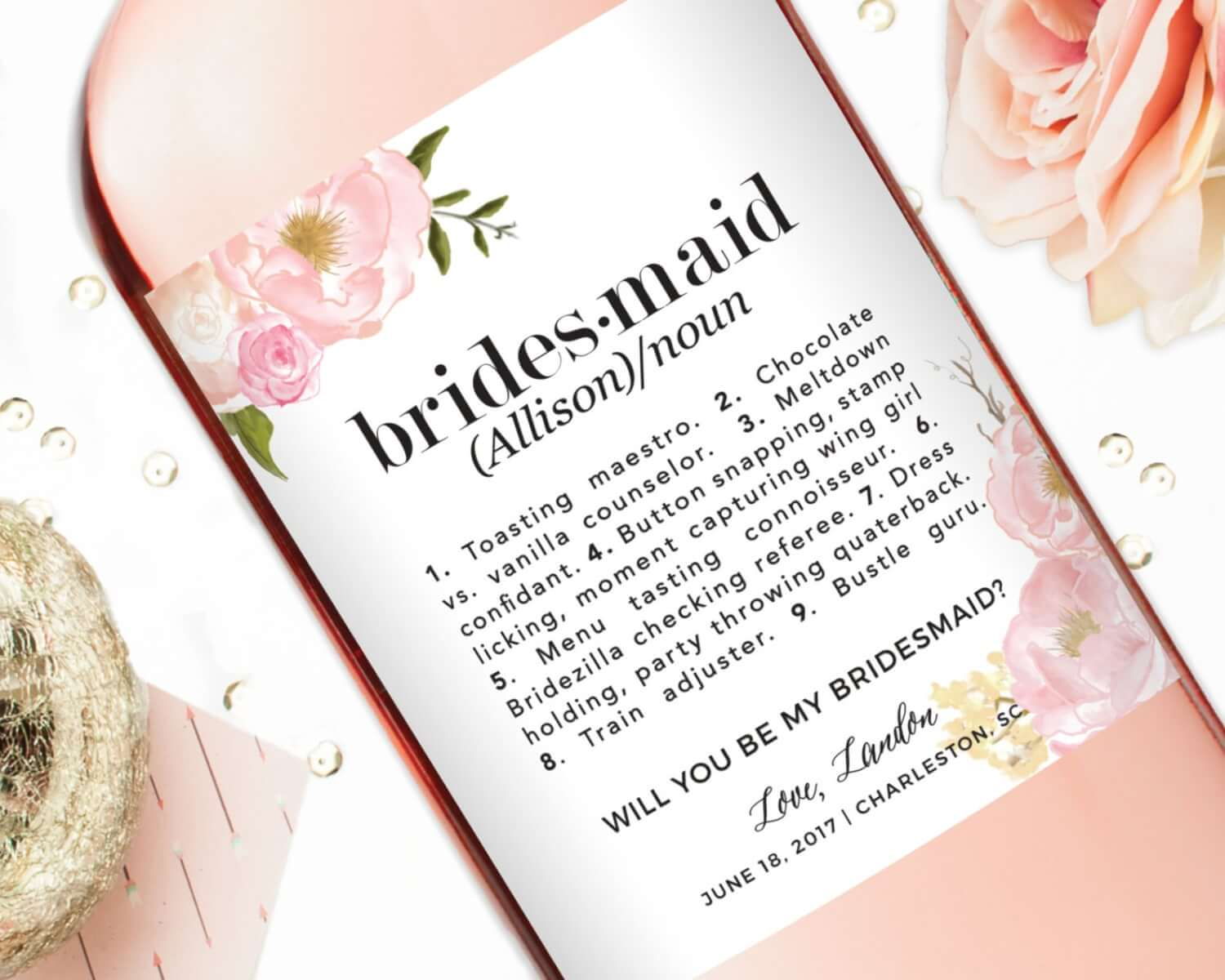These Adorable Custom Bridesmaid Labels