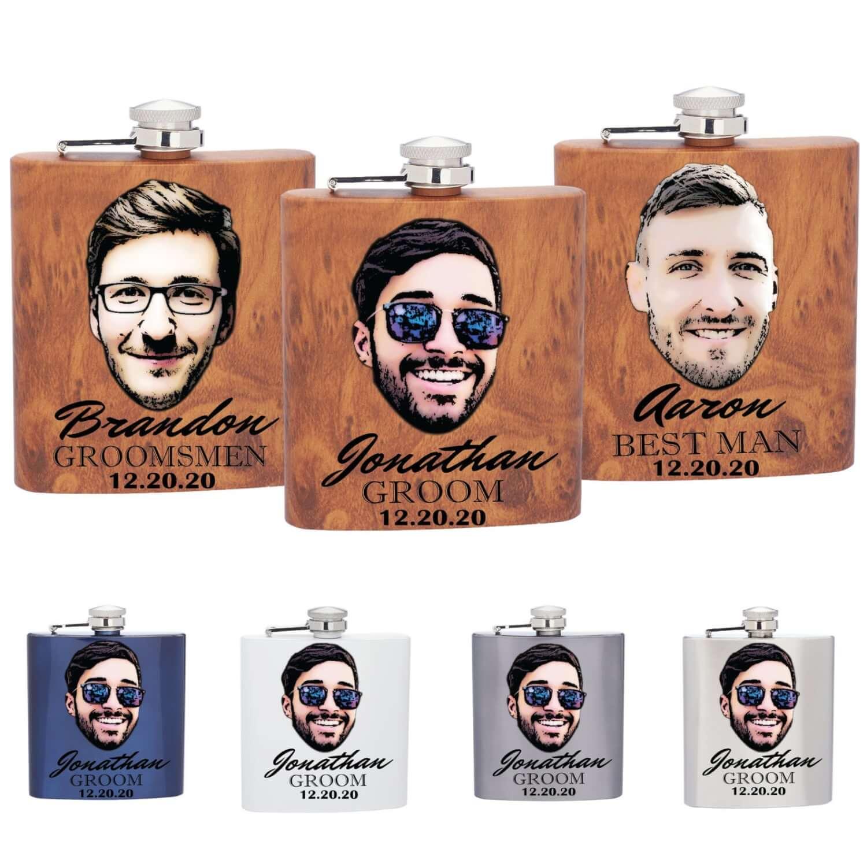 These Hilarious Customizable Face Flasks