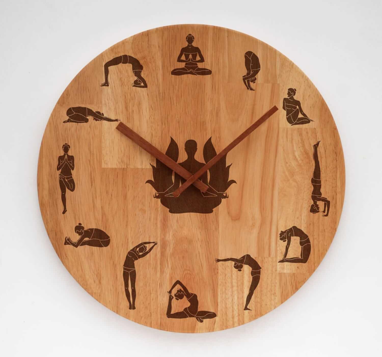 This Fun Yoga Wall Clock