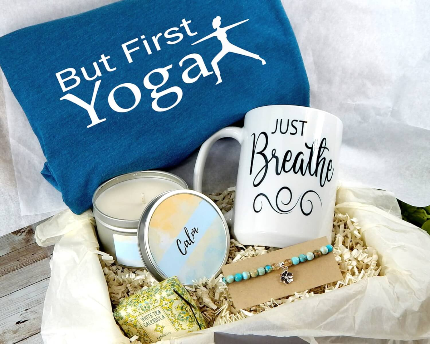 This Awesome Yoga Themed Gift Basket